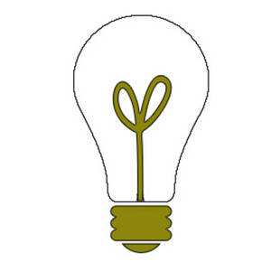 Free Clipart Picture of a Light Bulb