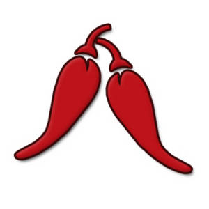 Free Clipart Picture of Hot Peppers