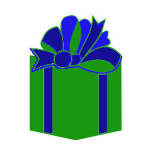 Free Christmas Clipart Image of a Wrapped Present