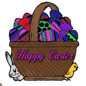 Free Clipart Picture of an Easter Basket
