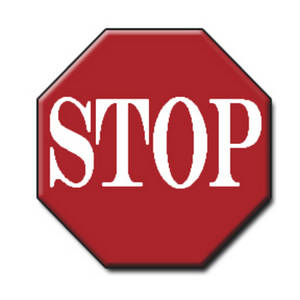 Free Clipart Picture of a Stop Sign