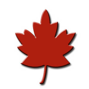 Free Clipart Picture of a Red Maple Leaf