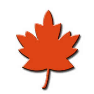 Free Clipart Picture of an Orange Fall Leaf