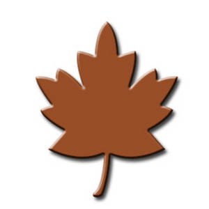 Free Clipart Image of an Autumn Maple Leaf