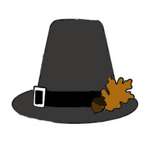 Free Clipart Picture of a Male Pilgrim's Hat