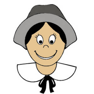 Free Clipart Graphic of a Pilgrim Girl