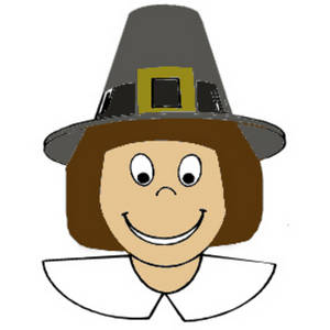 Free Clipart Graphic of a Pilgrim Boy