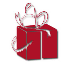 Free Christmas Clipart Of a Present Wrapped in Red Paper