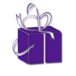 Free Clipart Picture Of a Purple Present