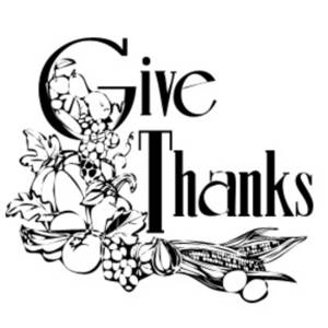 "Free Clipart Picture of a ""Give Thanks"" Graphic"