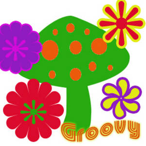 Free Clipart Picture of a Psychadelic 70s Graphic