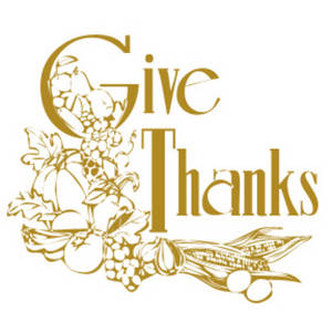 """Free Clipart Image of a """"Give Thanks"""" Graphic"""