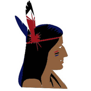 Free Clipart Picture of an Indian Brave in Profile