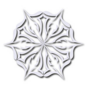Free Clipart Picture of an Intricate Snowflake
