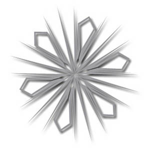 Free Clipart Picture of a Gray Burst Snowflake