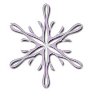 Free Clipart Picture of a Pink Spiral Snowflake