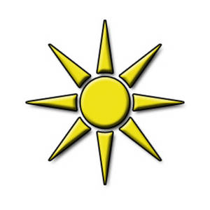 Free Clipart Picture of a Bright Yellow Sun