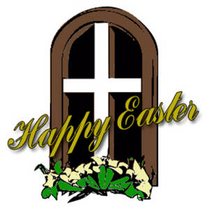 Free Clipart Picture of a Happy Easter Banner