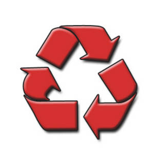 Free Clipart Picture of a Recycle Symbol