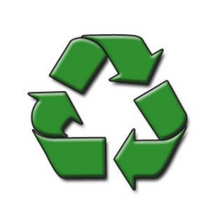 Free Clipart Picture of the Symbol for Recycling