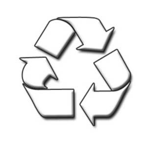 Free Clipart Picture of a Recycling Sign