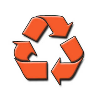 Free Clipart Picture of the Recycling Arrows