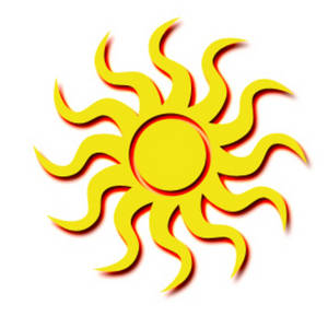Free Clipart Picture of a Tribal Sun