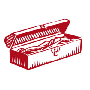 Free Clipart Picture of a Red Toolbox
