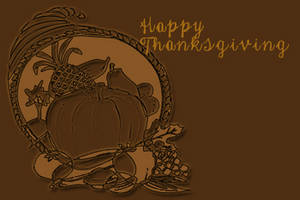 Free Clipart Picture of a Thanksgiving Cornucopia Banner