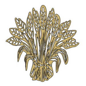 Free Clipart Picture of a Sheaf of  Wheat