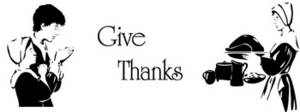 Free Clipart Picture of a Give Thanks Pilgrim Banner