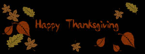 Free Clipart Picture of a Happy Thanksgiving With Leaves Banner