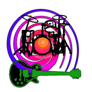 Free Clipart Picture of a Day-glo 70's Music Graphic