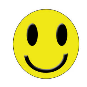 Free Clipart Picture of a Yellow Smiley