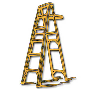 Free Clipart Picture of a Yellow Ladder