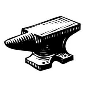 Free Clipart Picture of  an Anvil