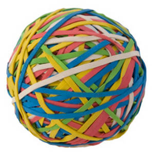 Free Clipart Picture of a Big Rubberband Ball