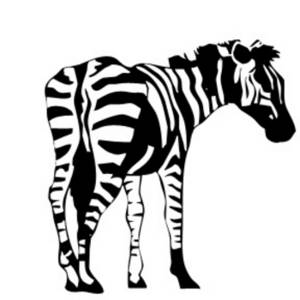 Description: Free clipart picture of a zebra turned to the side. This ...