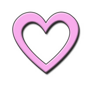 Free Clipart Picture of a Light Pink 3D Heart