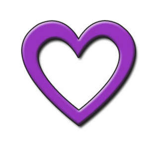 Free Clipart Picture of a Purple Open 3D Heart