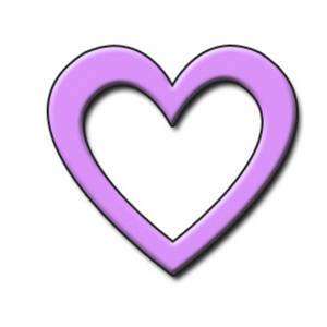 Free Clipart Picture of a Lavender Open 3D Heart