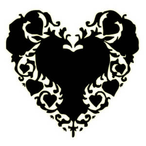Free Clipart Picture of a Victorian Heart Shape