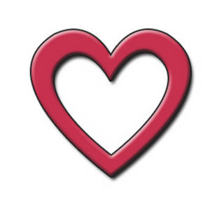 Free Clipart Picture of an Open Red Heart
