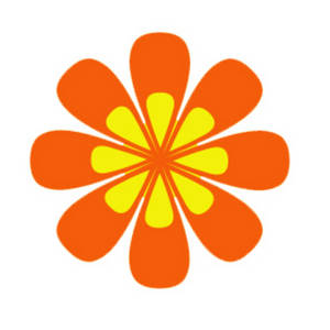 Clipart Picture Of An Orange And Yellow Flower