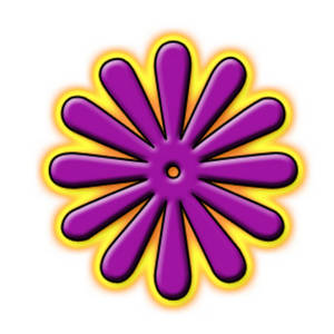 Free Clipart Picture of a Glowing Purple Flower