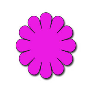 Free Clipart Picture of a Neon Pink Flower