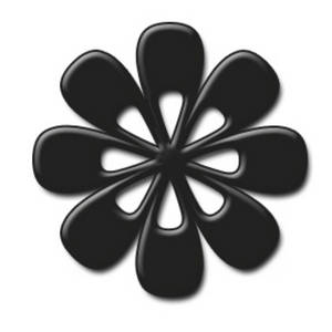 Free Clipart Picture of a Black Daisy-like Flower