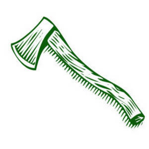 Free Clipart Picture of an Axe