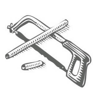 Free Clipart Picture of a Hacksaw