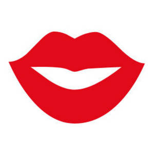 Free Clipart Picture of Red Lips in a Smile